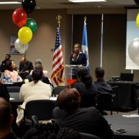 Mayor Carr-Hurst speaking