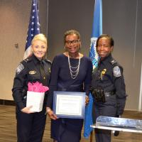 Mayor with Security after presentation of gifts