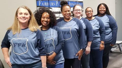 Fairburn Spirit Friday! Police Department Spirit.