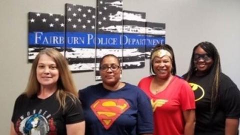 Superhero Monday! Police Department Spirit.
