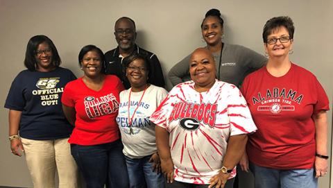 College Tuesday! Administration Spirit.