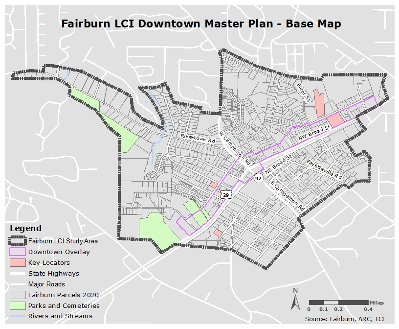Fairburn LCI Downtown Master Plan - Base Map